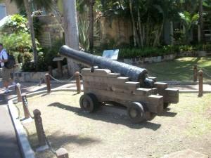 Nelson Dockyard Cannon