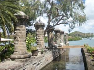 Nelson's Dockyard Boat House Pillars